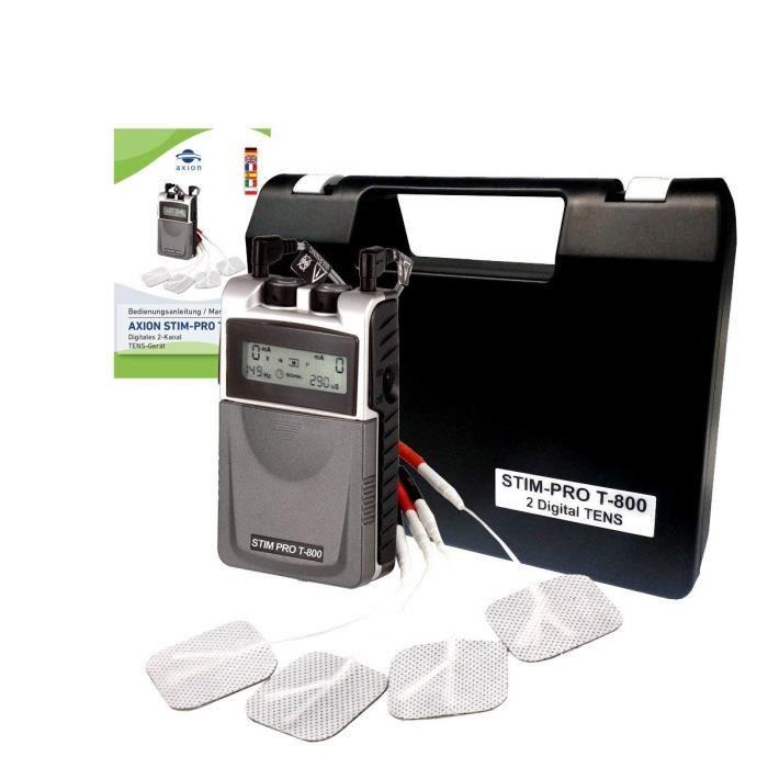 Axion - Electrostimulateur anti-douleur - STIM-PRO T-800 - 3 modes TENS classiques et 9 programmes ciblés