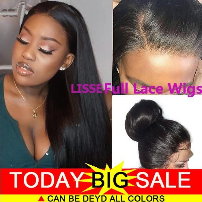 full lace wig perruque bresilienne femme lisse REMY 12pouces=30cm 100% cheveux naturels humains 150% densit straight hair
