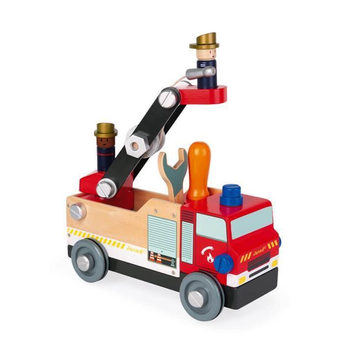 Camion Pompiers Brico'kids - Jeu de Construction en Bois - Dès 3 ans