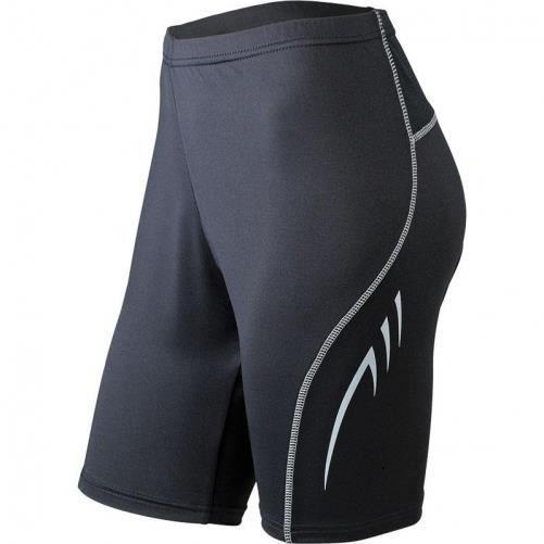 Collant court running jogging course à pied - FEMME JN435 - noir