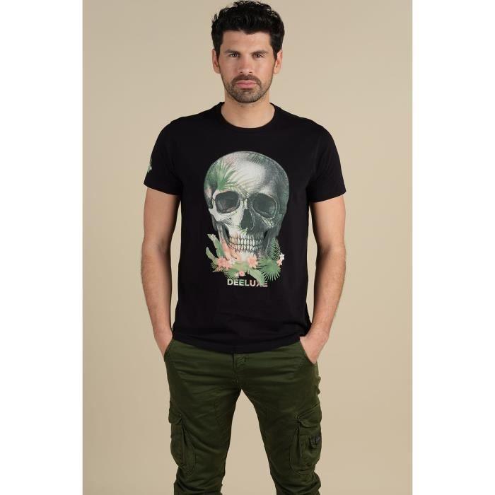 DEELUXE T-shirt imprimé tête de mort JACKSON Black