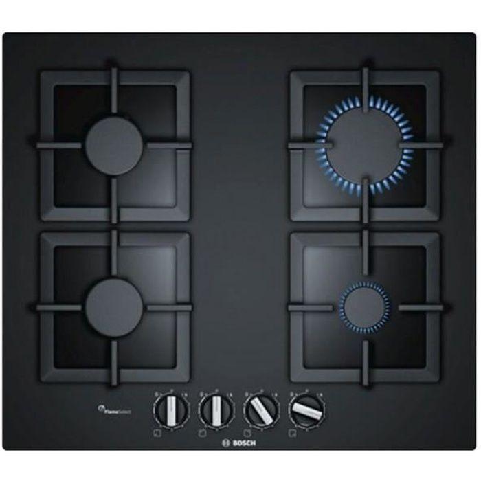 Plaques de cuisson Style plaque au gaz bosch ppp6a6b20 (60 cm) noir (4 feux a gaz)