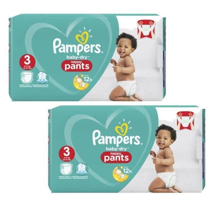 Pampers - 416 couches bébé Taille 3 baby dry pants