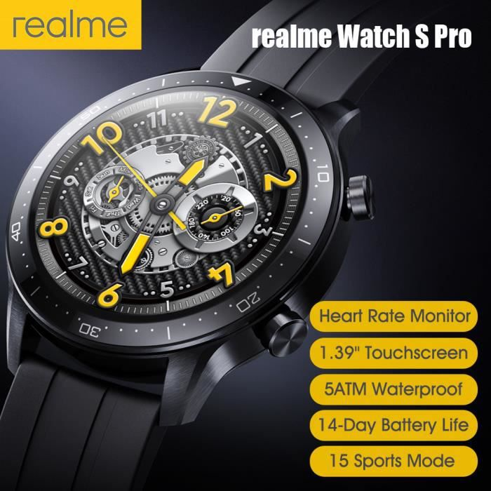 realme Watch S Pro, Montre intelligente compatible avec Android 5.0+ iOS 9.0+