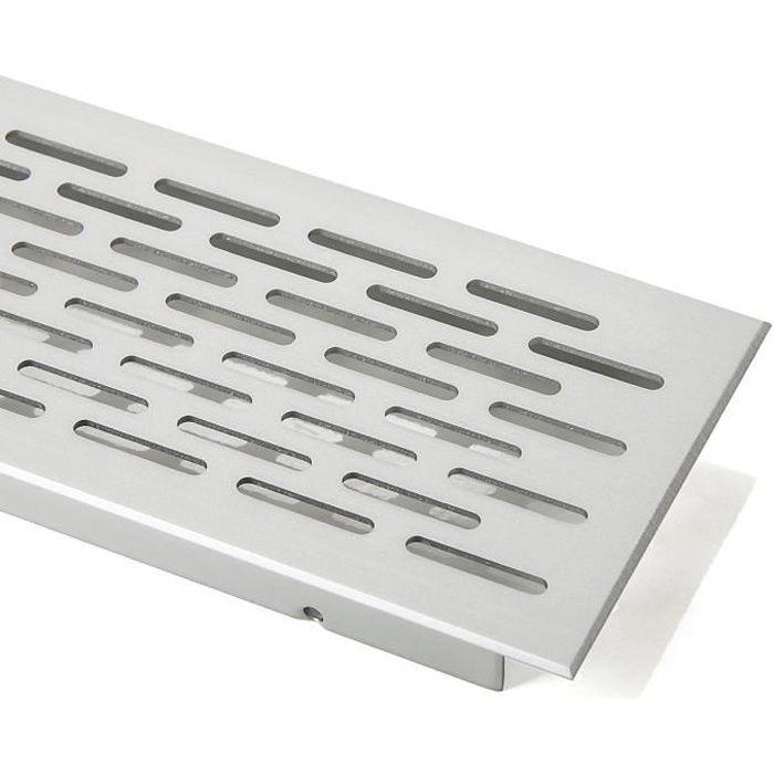 Grille de Ventilation Perforée Ovale Aluminium EV1-250 mm de SO-TECH® AERATEUR - GRILLE D'AERATION - TERMINAUX DE SOUFFLAGE