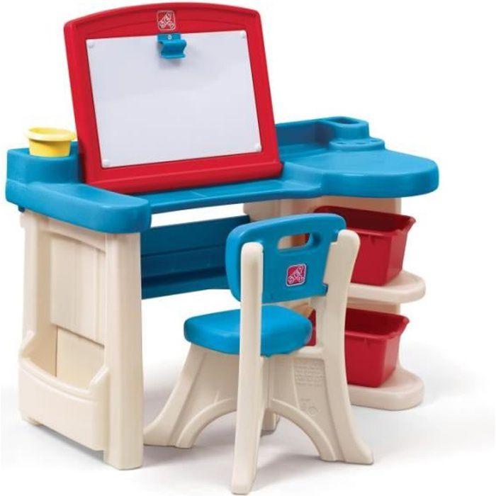 Bureau Studio d'Art 2 en 1 Step2 en plastique dur pour enfant 2 ans et plus