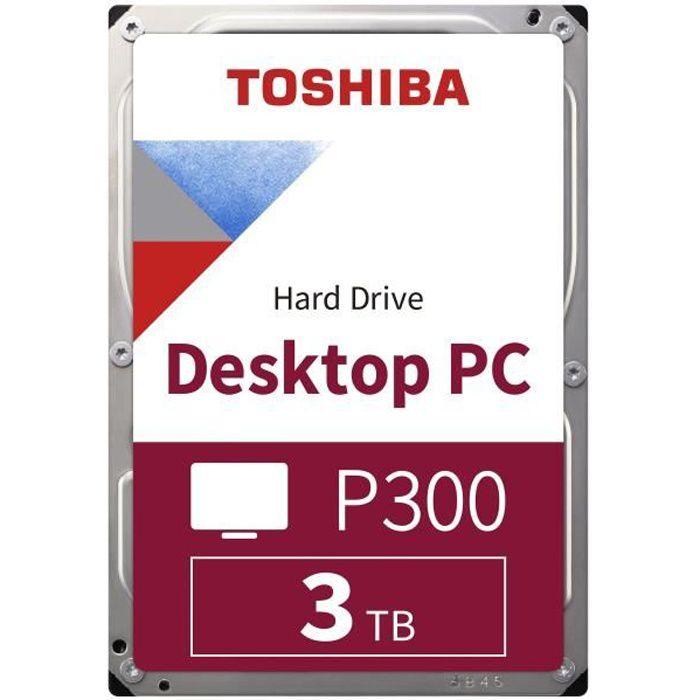TOSHIBA - Disque dur Interne - P300 - 3To - 7200 tr/min - 3.5- Boite Retail (HDWD130EZSVA)