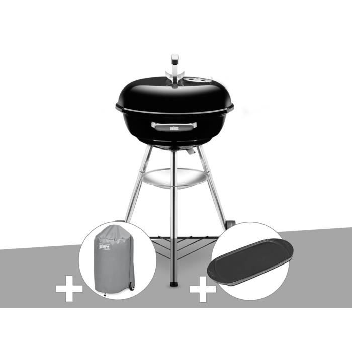 Barbecue Weber Compact Kettle 47 cm + Housse + Plancha