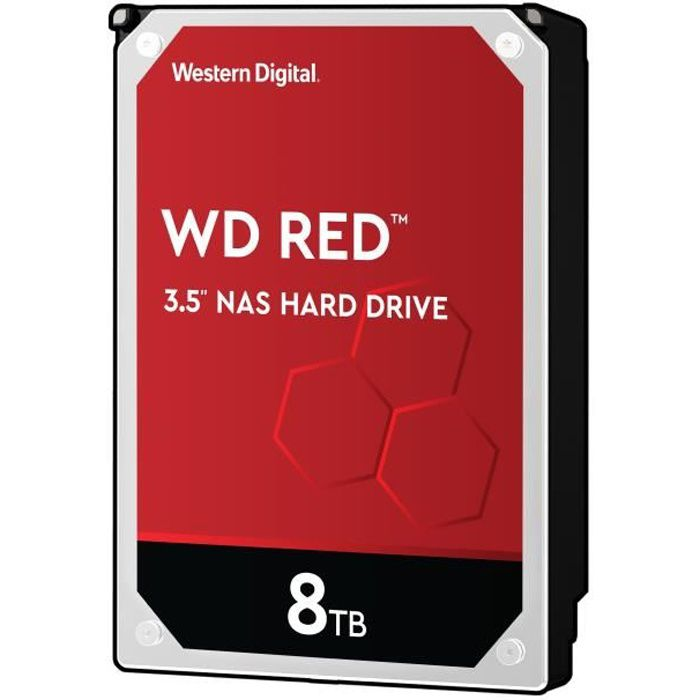 WD Red™ - Disque dur Interne NAS - 8To - 5 400 tr/min - 3.5- (WD80EFAX)