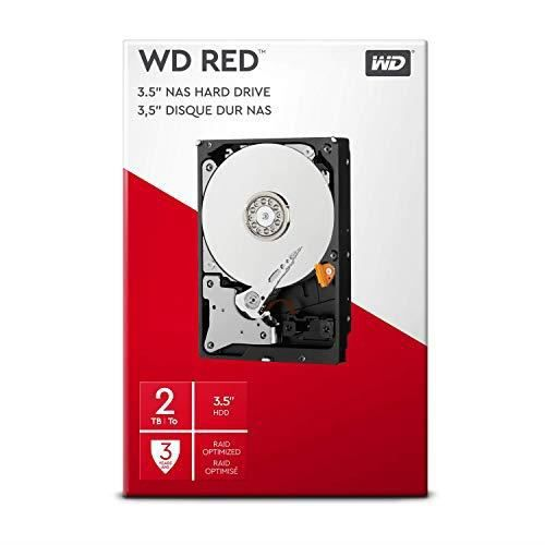 WD Red Kit Disque dur interne NAS 2 To 3,5 pouces SATA intellipower WDBMMA0020HNC-ERSN