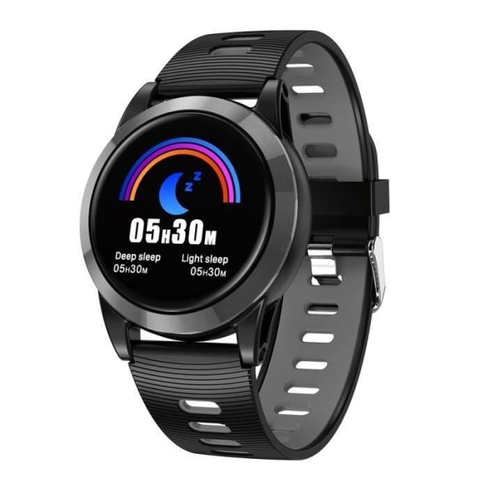 Montre Connectée Ios Android Smartwatch Tactile Ips 1.3 Pouce 2.5d Sport Noir - Yonis