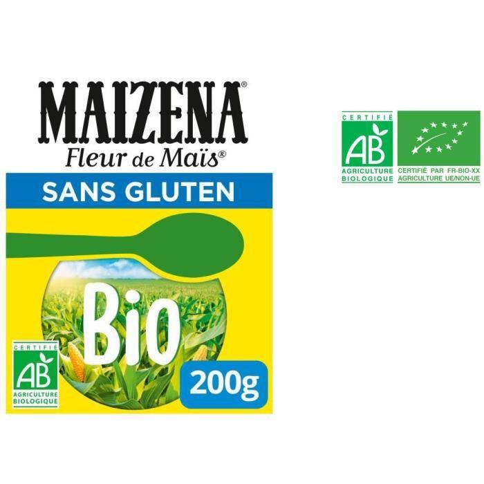 MAIZENA Fleur de maïs bio - Sans gluten - 200 g
