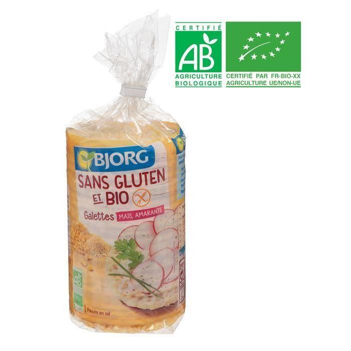 BJORG Galettes Maïs, Amarante Sans Gluten Bio - 150 g