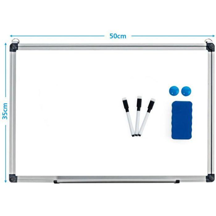 TABLEAU - PAPERBOARD Tableau Blanc Magnétique 50x35cm Effaçable Surface