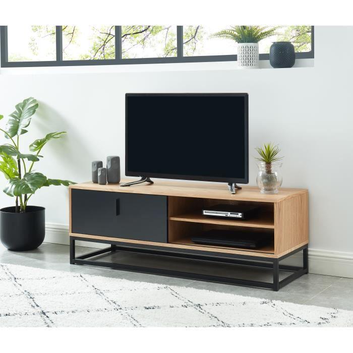 brixton meuble tv industriel en bois