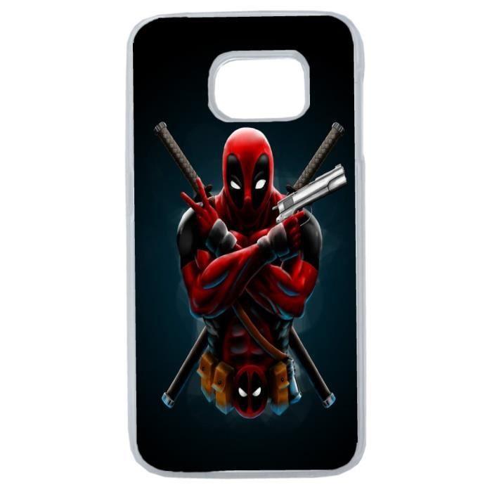 Etui housse coque Marvel Deadpool swag pour SAMSUN