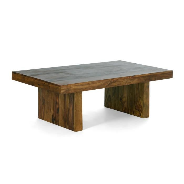 Table basse country ii 135x75 en palissandre miel massivum - Table basse palissandre ...