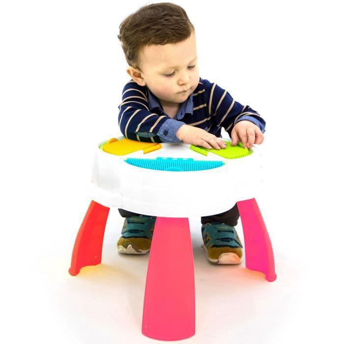 ASSEMBLAGE CONSTRUCTION CUBIK Boîte table pour briques à picots - 50 pièce
