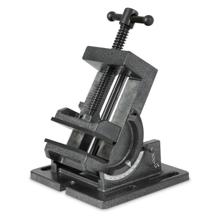 100 mm Largeur de m/âchoire, 90 mm Ouverture de m/âchoire, Acier moul/é, Construction robuste EBERTH 100 mm /Ètau pour perceuse