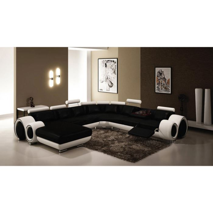 canap cuir panoramique frenso angle gauche ass achat vente canap sofa divan cuir. Black Bedroom Furniture Sets. Home Design Ideas