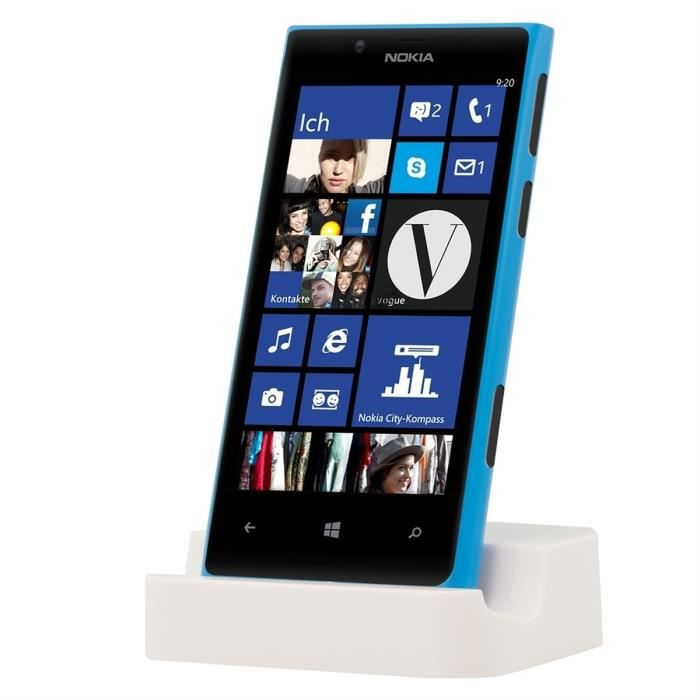 kwmobile station d 39 accueil micro usb pour nokia lumia 720 blanc design l gant station d. Black Bedroom Furniture Sets. Home Design Ideas