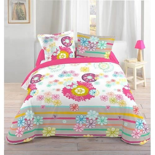 lovely casa hp46753001 colorfun housse de couette 2 taies coton multicolore 240 x 240 cm achat. Black Bedroom Furniture Sets. Home Design Ideas