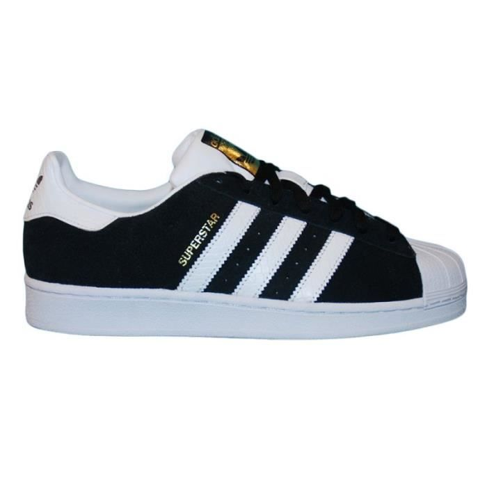adidas superstar blanc noir or