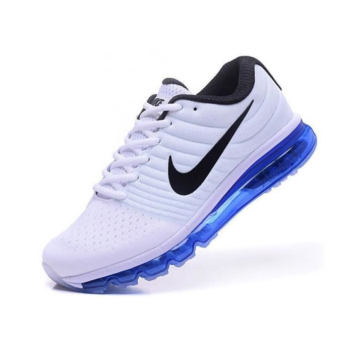 nike air max 2017 baskets chaussures de sport homme blanc bleu tu achat vente basket cdiscount. Black Bedroom Furniture Sets. Home Design Ideas