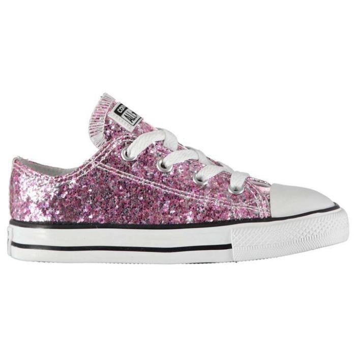 CONVERSE ALL STAR ENFANT PAILLETTE ROSE Rose - Achat / Vente ...