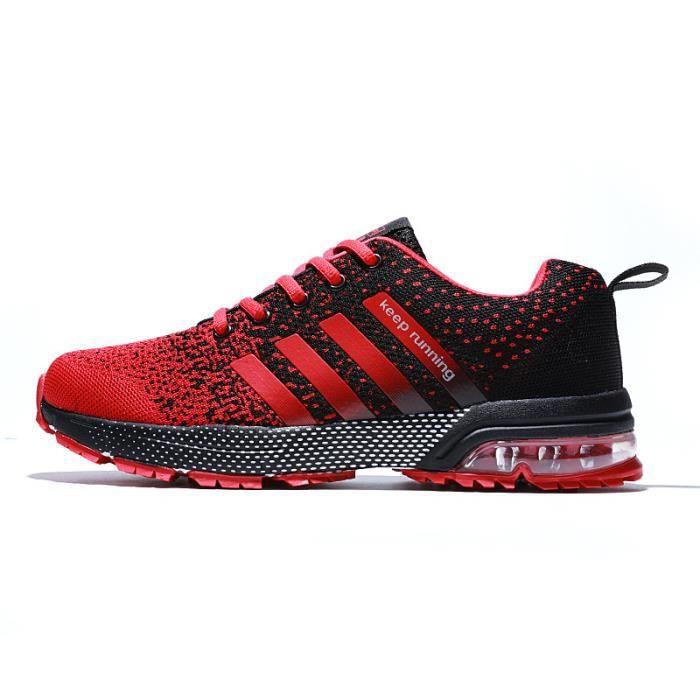 Baskets Homme Femme mixte AIR - chaussures de sport Rouge ...
