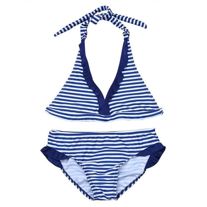CHICTRY 3PCS UV Protection Enfant Filles Tankini Floral Imprim/é Maillot De Bain Ensemble Tops Bottoms Shorts Culotte