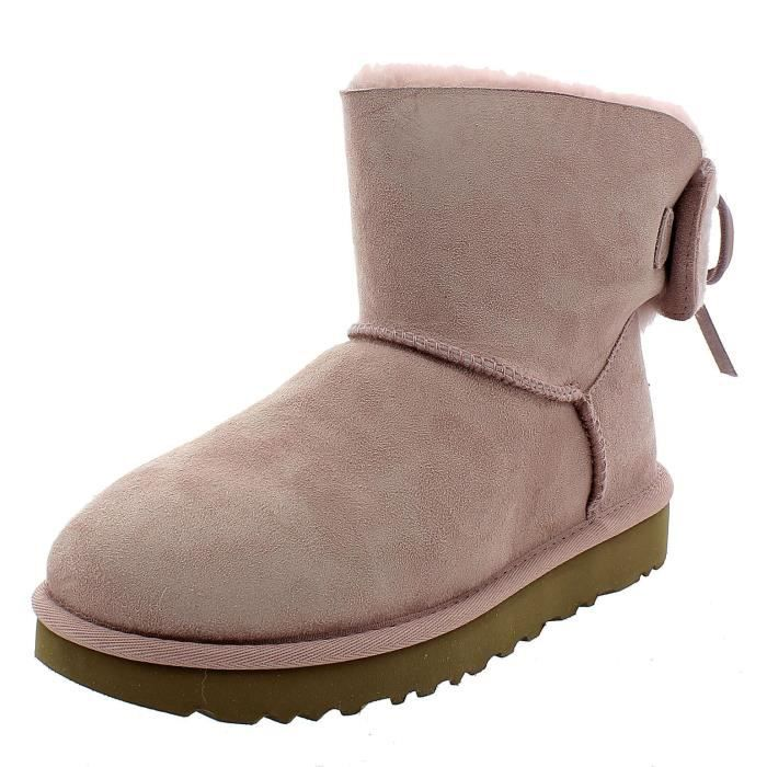 CLASSIC POUR FEMME DOUBLE BOTTES 1103652PCRY UGG BOW ROSE MINI ZPXiTwuOk