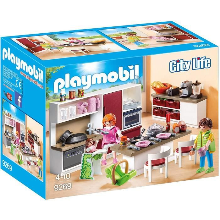 Photo de playmobil-9269-la-maison-moderne-cuisine-amenagee