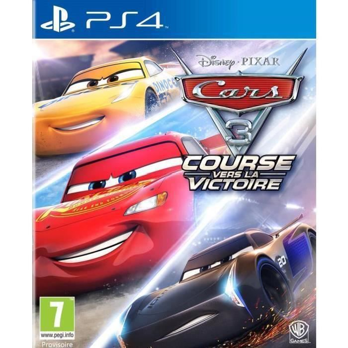 NINTENDO SWITCH Cars 3 Jeu PS4 + 2 LED Light Bar Offert