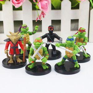 FIGURINE - PERSONNAGE 1 Ensemble = 6 pcs Teenage Mutant Ninja Turtles TM
