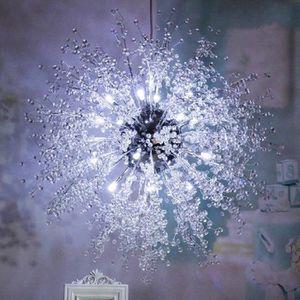 PLAFONNIER Moderne Pissenlit Cristal Lustres LED Éclairage Po