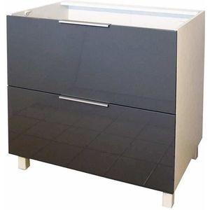 ELEMENTS BAS Meuble bas 2 tiroirs - 80cm - Gris
