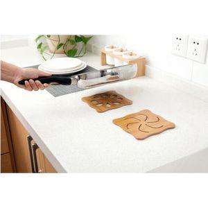 DESSOUS DE PLAT  HHY70412002 1 Pc bois résistant à la chaleur Pad H