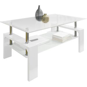 Table basse laque blanc 100 100 cm achat vente table for Table ultra basse