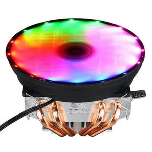 VENTILATION  QN Ventilateur CPU 4 Caloducs 120mm RGB Pour LGA 1