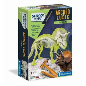 HISTOIRE - GEO CLEMENTONI Archéo Ludic - Tricératops Phosphoresce