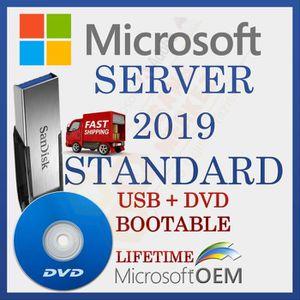 SYSTÈME D'EXPLOITATION MS Windows Server 2019 Standard | Lecteur USB + DV
