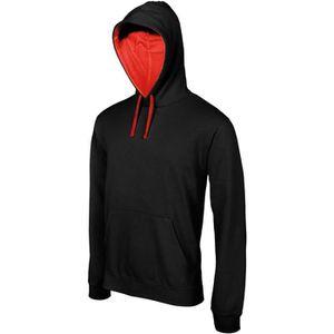 Sweat shirt à capuche contrastée Kariban homme VertBlanc 3XL