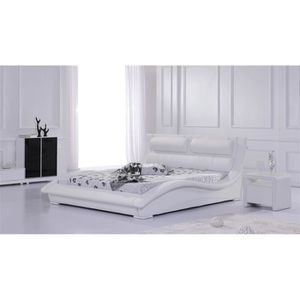 lit design 180 200 cm achat vente lit design 180 200 cm pas cher cdiscount. Black Bedroom Furniture Sets. Home Design Ideas
