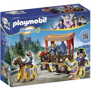 UNIVERS MINIATURE PLAYMOBIL 6695 Super 4 Tribune Royale Avec Alex