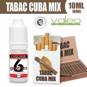 LIQUIDE E LIQUIDE 10ML – TABAC CUBA MIX 18mg DE NICOTINE -