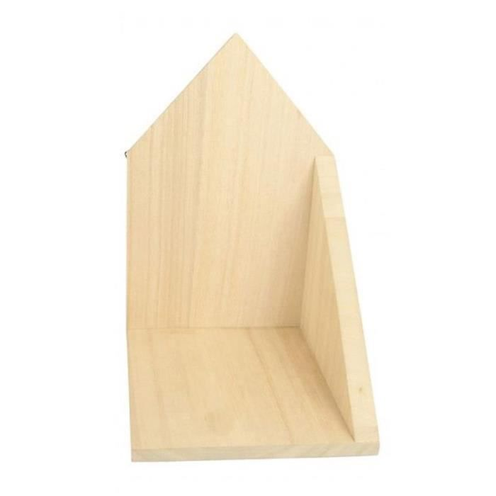 Etagère d'angle en bois 14,7 x 22 x 16 cm - ouverture à gauche