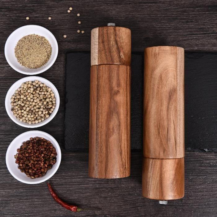 Moulin à poivre sel, manuel, assaisonnement moulin à poivre sel de mer, préparation de repas, cuisson, service, salle à manger