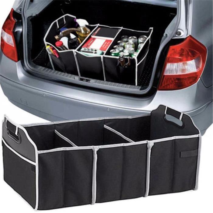 Boîte de rangement pour coffre de voiture - Sac de rangement pliable avec 3 compartiments
