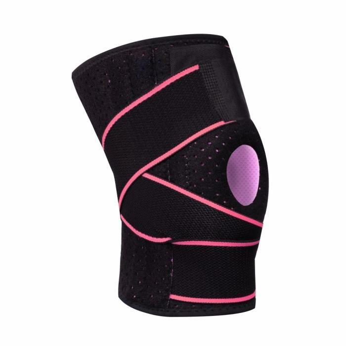 Genouillère pour hommes / femmes avec stabilisateurs latéraux, coussinets en gel à rotule pour le maintien du genou_1